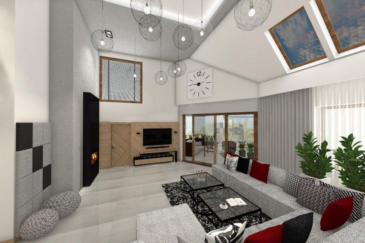 Cudna przestrzeń domu jednorodzinnego z antresolą
