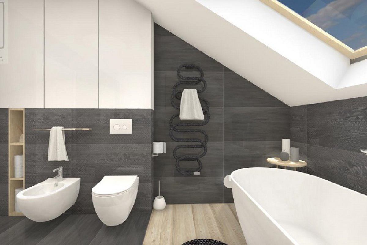 Cudowna łazienka z wanną wolnostojącą – wariant I