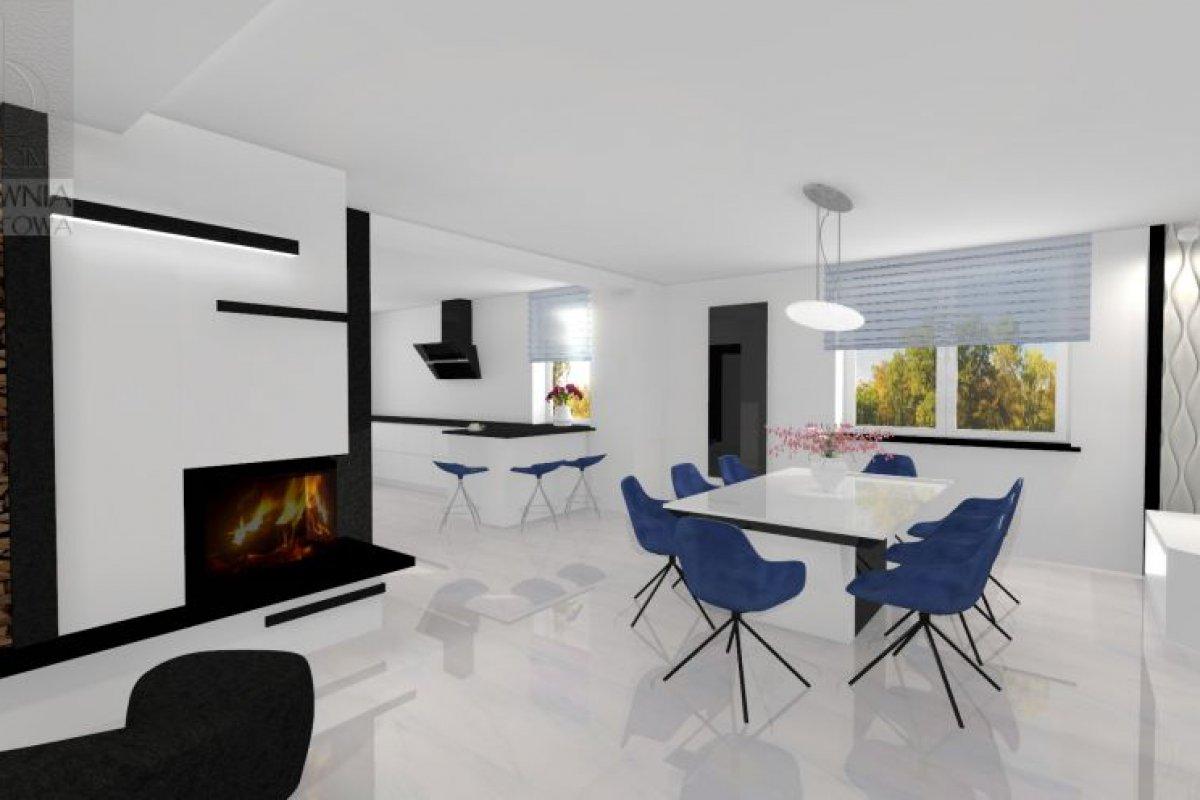 Minimalistyczny salon w czerni i bieli