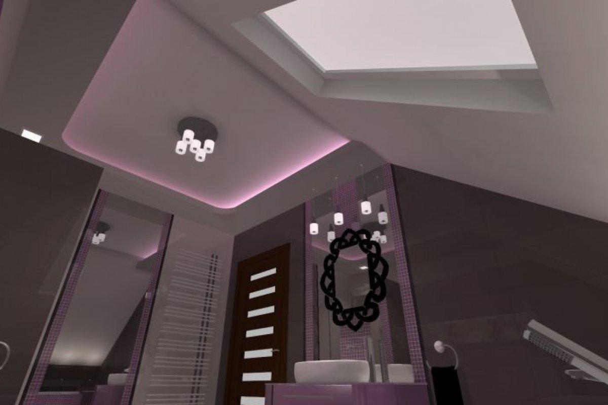 Nastrojowa sypialnia z łazienką