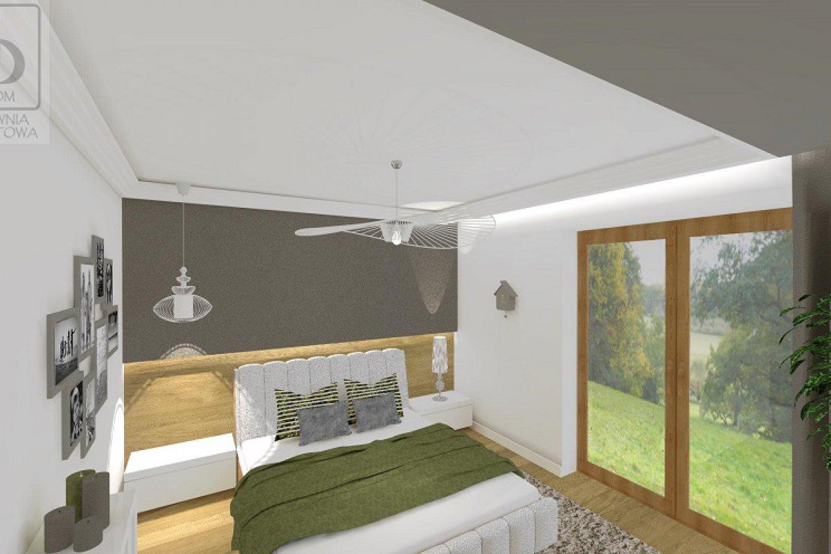 Nowoczesna sypialnia z łazienką