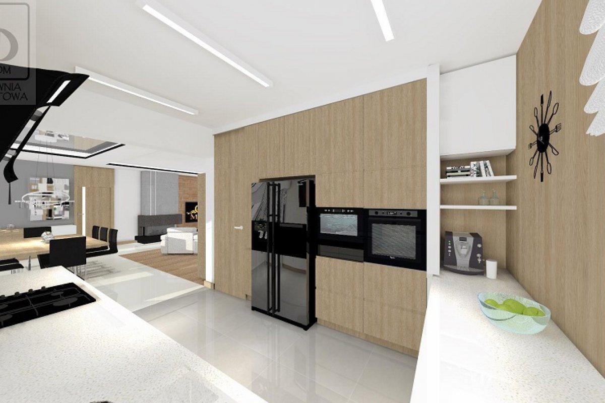 Nowoczesny salon z kuchnią